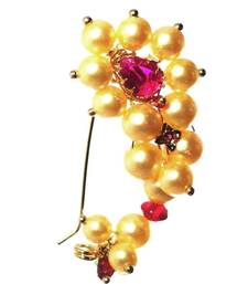 Buy Nath CLIP type BIG size Maharashtrian traditional Nose ring of Pearl beads nose-ring online