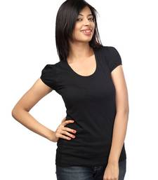 Buy Casual round neck : Classic Black top online