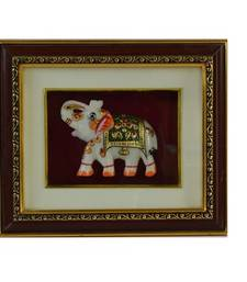 Buy Marble Royal Elephant Wall Hanging wall-art online