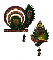Buy Combo of Lord Ganesha and Laddu Gopal Key Holder wall-art online