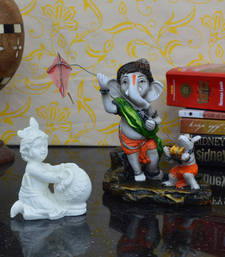Buy Combo of Lord Ganesha and Laddu Gopal Statue sculpture online