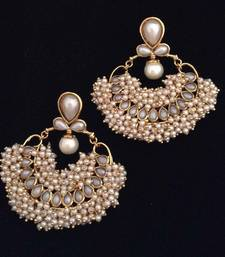 Buy Chandni pearl traditional India hand-made bollywood jewellery earring hoop online