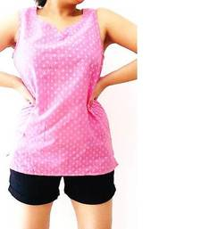 Buy Lotus Pink Cotton tops top online