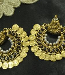 Buy Dark Maroon colour Ram Leela Earrings hoop online