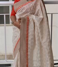 Buy Pearl charm jute-saree online