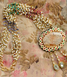 Buy Layered Mala & Kundan Pendant Necklace online