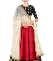 Buy dark_pink silk embroidered lehenga with dupatta lehenga-choli online