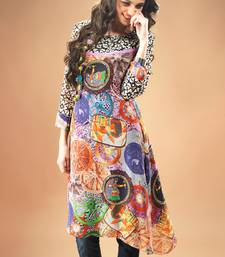 Buy Multi colour Georgette Pakistani Kurti Comprising Traditional Motif pakistani-kurti online