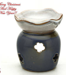 Buy English Garden Blue Ceramic Tea Light Holder and oil Warmer christmas-decoration online