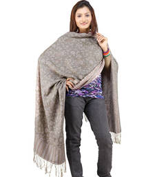 Buy Hand Weaved Embroidery Reversible Warm Scarf Stole stole-and-dupatta online