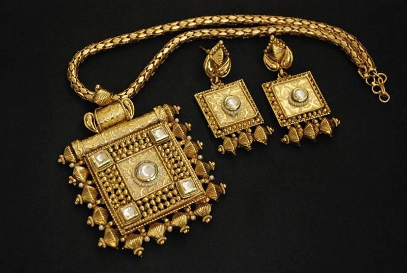 Buy Rajwadi Pendant Set With Gold Plated Amp Copper Base Online