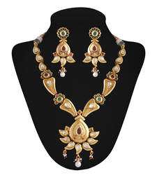 Buy Icon Gold plated  kundan set necklace-set online