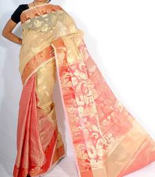 Fancy Check Patli Pallu Banarasi saree shop online