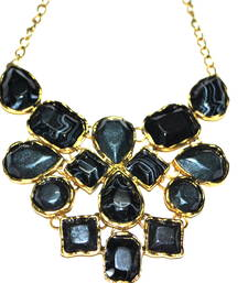 Buy Black marble statement necklace  Necklace online