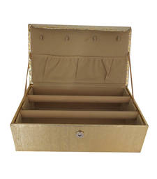 Buy Designer Two 2   Rolls Bangles Box Golden jewellery-box online