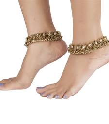 Buy anique gold plated kundan traditional payal anklet anklet online