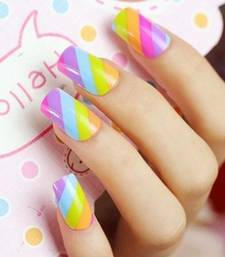Buy Shimmer 'n sparkle, new fashion rainbow false nails decoration .decals tips gifts-for-her online