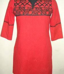 Buy Red Coloured Kurti kurtas-and-kurti online