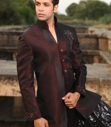 Buy Maroon brocade indowestern suit indo-western-dress online