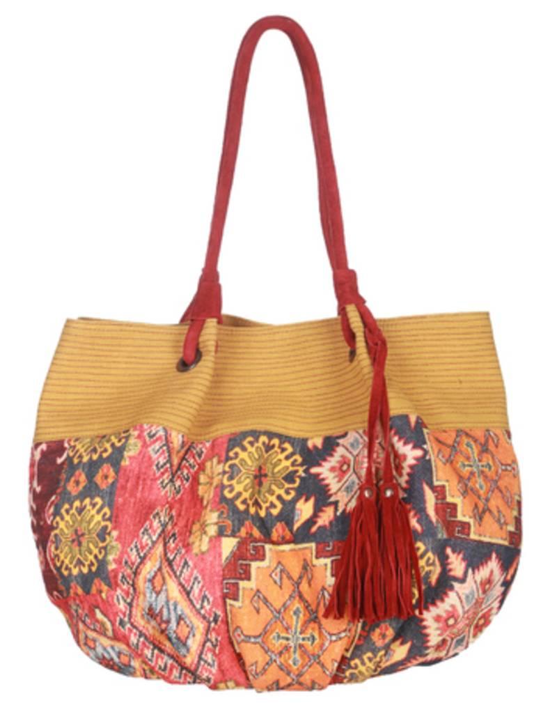 Buy Red Printed Casual Handloom Shoulder Bags Women Hand ...