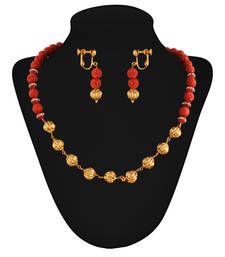 Buy Evergreen Gold plated contemporary set necklace-set online