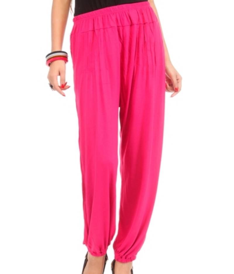 Buy Dee Fashion House Pink Viscose Lycra Harem Pants Online