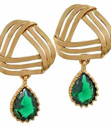Buy Classic Green Designer Drop Earrings danglers-drop online