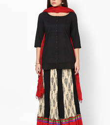 Buy Red Hand Block Print Cotton Dupatta stole-and-dupatta online