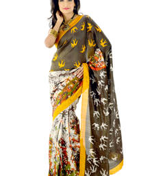 Buy Hand-woven multi colour silk saree silk-saree online