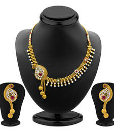 Buy Beguilling Gold Plated Necklace Set for Women eid-jewellery online