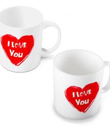 Buy Elegant I Love You Heart Printed Coffee Mugs Pair other-home-accessory online
