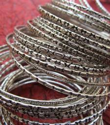 Buy Two Dozen oxidized bangles bangles-and-bracelet online