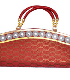 Buy Unique Red mango Brocate Clutch clutch online