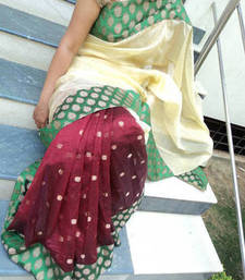 Buy Chanderi Net tissue-saree online
