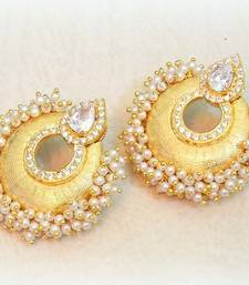 Buy ETHNIC PEARL CHAND BALI EARRING danglers-drop online
