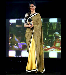 Buy Designer deepika padukone exclusive cotton party wear saree deepika-padukone-saree online