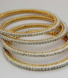 Buy SINGLE LINE MEDIUM SIZE STONE SETTED 4 PICS ZERKON STONES BANGLES bangles-and-bracelet online