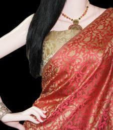 Buy MESMERIZING CORAL jacquard-saree online