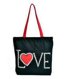 Buy HAND EMBROIDERED LOVE CANVAS tote-bag online