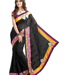 Buy Black brasso Brasso saree with blouse brasso-saree online