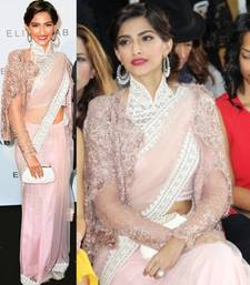 Buy Lastest Bollywood inspired sonam kapoor designer saree sonam-kapoor-saree online