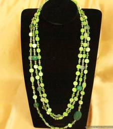 Buy Ethnic Green Bead Necklace Necklace online