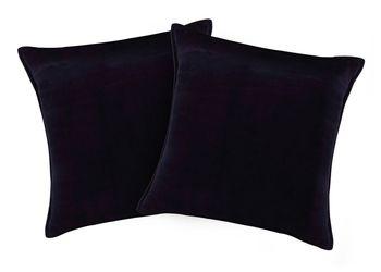 Buy Pair Of Cotton Velvet Royal Blue Regular Size Cushion