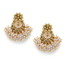 Buy Traditional pearl hangings jhumka online