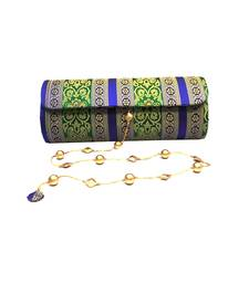 Buy Patrika or Kankotri (invitation card) shaped clutch (multicolor 3N) clutch online