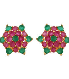 Buy Beautiful Ruby Emerald Stud Earring stud online