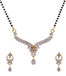 Buy Luxor American Diamond Studded Mangalsutra Mother's Day Gift for Women MS-1234 mangalsutra online