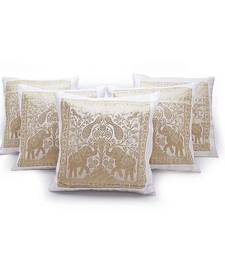 Buy Peacock n Elephants Design 5 Pc Cushion Covers Set other-home-furnishing online