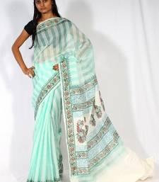 Buy Cotton fancy aanchal border saree cotton-saree online
