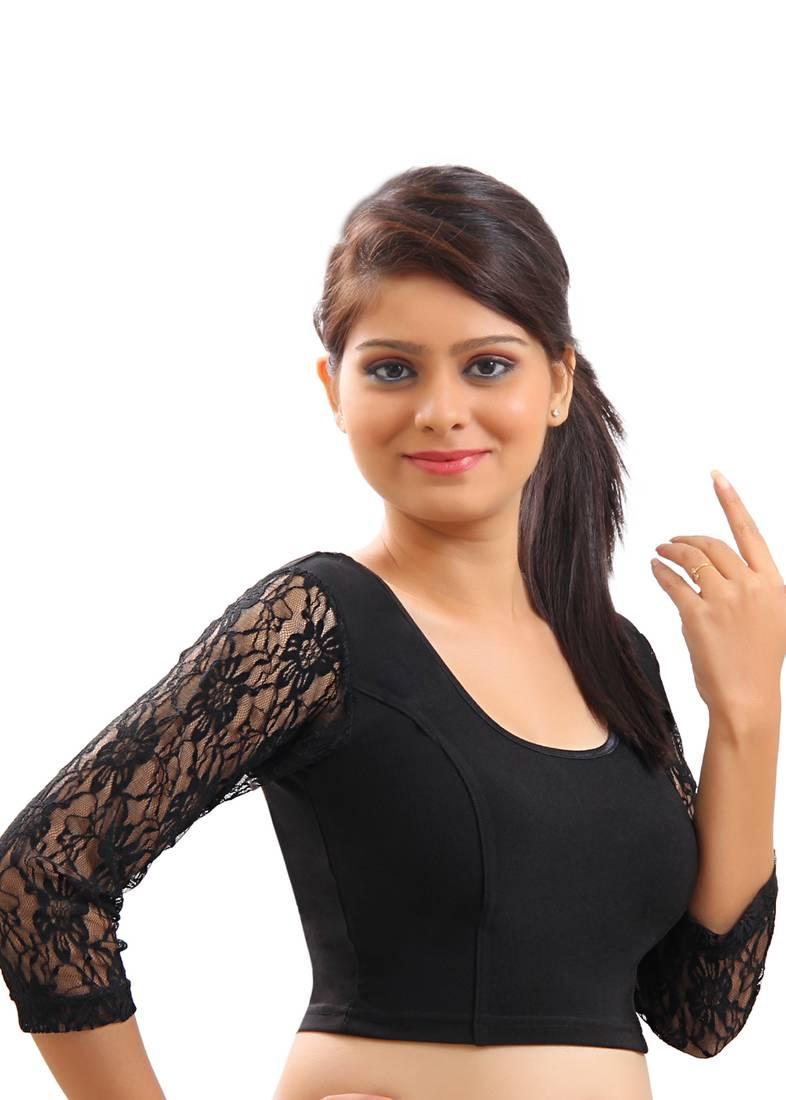 Buy Black Lace Net Will Vary Slightly Crochet Stretchable